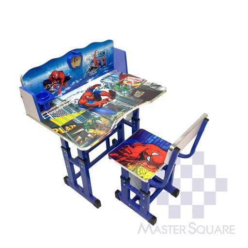 Kids Desk And Chair Set 27 X 18 In Spiderman In Blue-Master Square