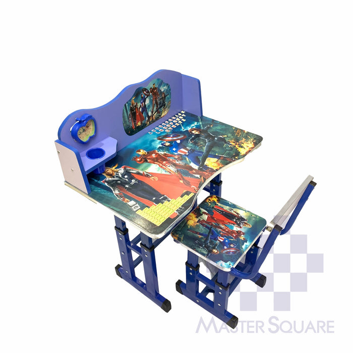 Kids Desk And Chair Set 27 X 18 In Avengers In Blue-Master Square
