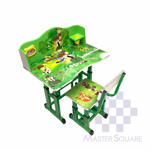 Kids Desk And Chair Set 27 X 18 In Ben10 In Green-Master Square