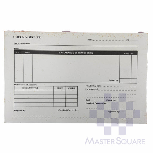 Check Voucher Approx. 210x135mm-Master Square