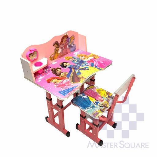 Kids Desk And Chair Set 27 X 18 In Disney Princesses In Pink-Master Square