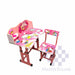 Kids Desk And Chair Set 27 X 18 In Hello Kitty In Pink-Master Square