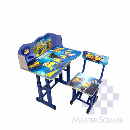 Kids Desk And Chair Set 27 X 18 In Minion In Blue-Master Square