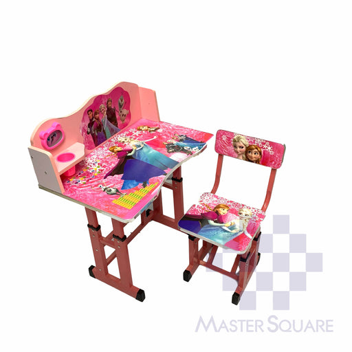 Kids Desk And Chair Set 27 X 18 In Frozen In Pink-Master Square