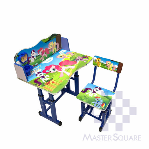 Kids Desk And Chair Set 27 X 18 In My Little Pony In Blue-Master Square