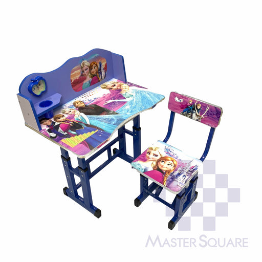 Kids Desk And Chair Set 27 X 18 In Frozen In Blue-Master Square