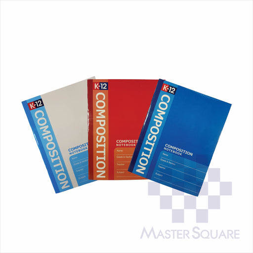Notebook K-12 Composition 80lvs Set 1 Pack Of 3-Master Square