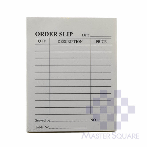 Order Slip Mini Duplicate Approx. 84x105mm-Master Square