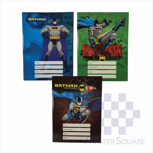Notebook Composition 80lvs Batman Design Set 2 Pack Of 3-Master Square