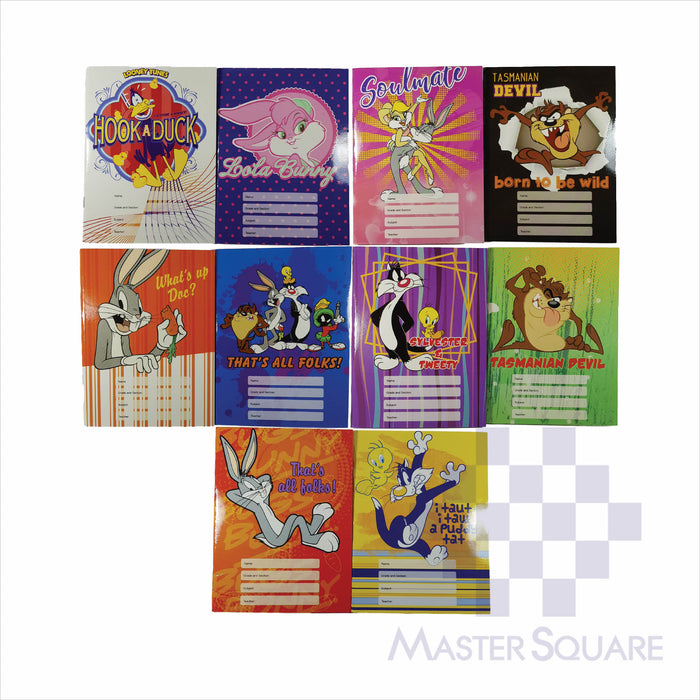 Notebook Composition 80lvs Looney Tunes Design Pack Of 10-Master Square