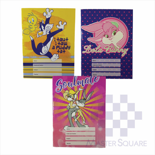 Notebook Composition 80lvs Looney Tunes Design Set 1 Pack Of 3-Master Square