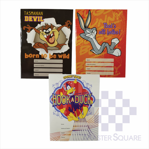 Notebook Composition 80lvs Looney Tunes Design Set 2 Pack Of 3-Master Square