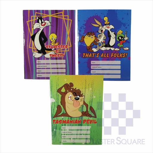Notebook Composition 80lvs Looney Tunes Design Set 3 Pack Of 3-Master Square