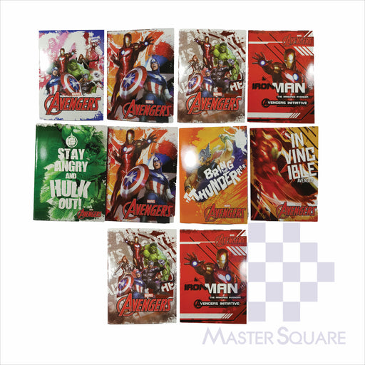 Notebook Composition 80lvs Avengers Design Pack Of 10-Master Square