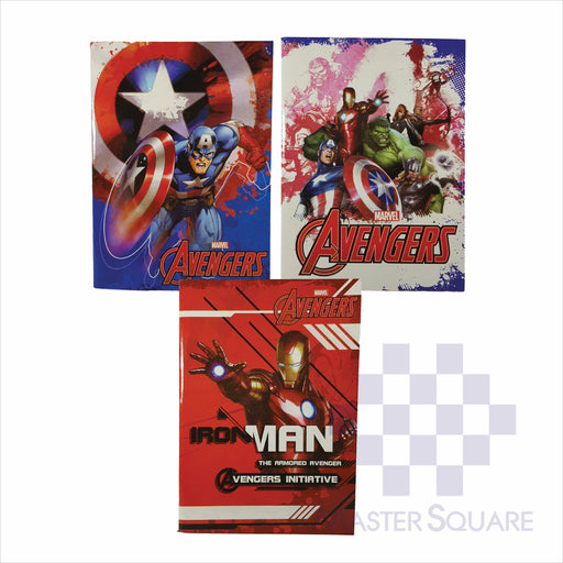 Notebook Composition 80lvs Avengers Design Set 2 Pack Of 3-Master Square