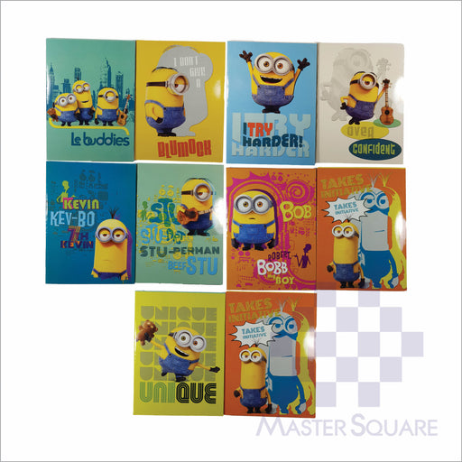 Notebook Composition 80lvs Minion Design Pack Of 10-Master Square