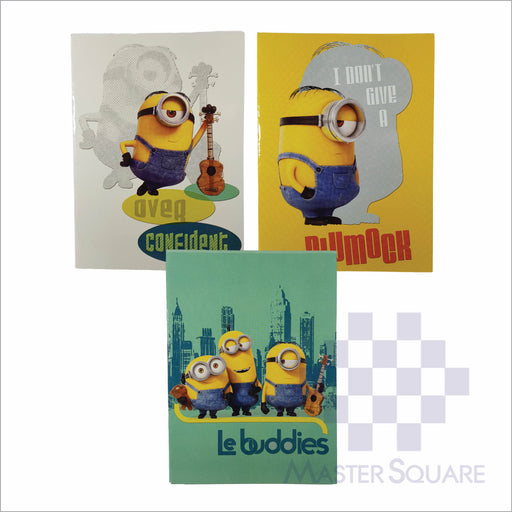 Notebook Composition 80lvs Minion Design Set 1 Pack Of 3-Master Square