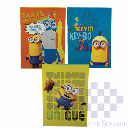 Notebook Composition 80lvs Minion Design Set 2 Pack Of 3-Master Square