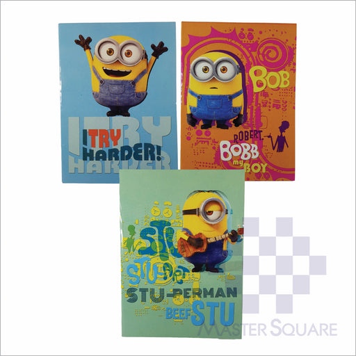 Notebook Composition 80lvs Minion Design Set 3 Pack Of 3-Master Square