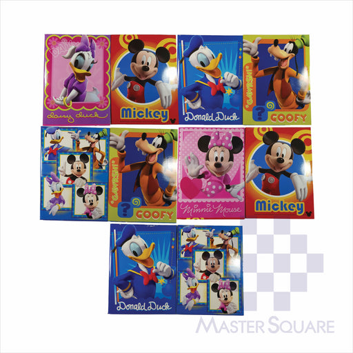 Notebook Composition 80lvs Mickey Mouse Design Pack Of 10-Master Square