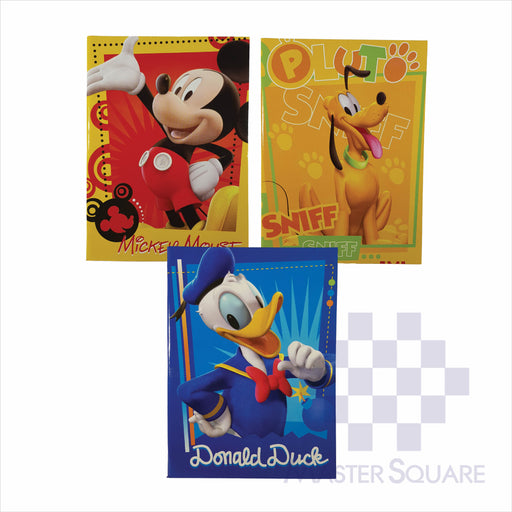 Notebook Composition 80lvs Mickey Mouse Design Set 1 Pack Of 3-Master Square