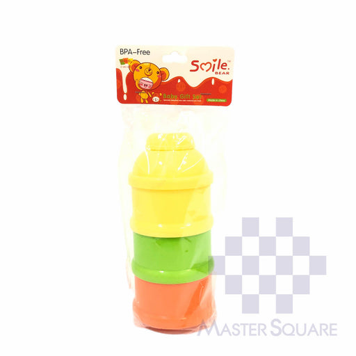 Smile Bear Milk Powder Dispenser 3 Layer Stackable-Master Square