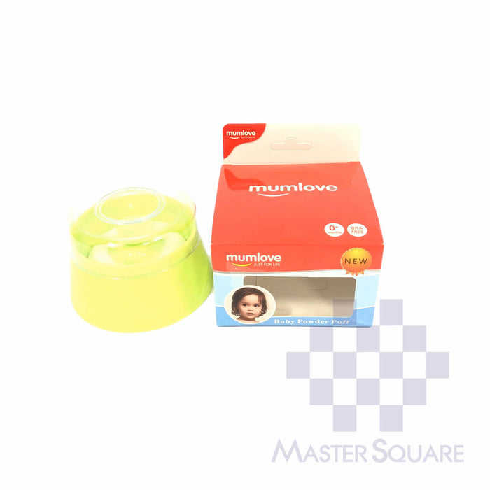 Mumlove Baby Powder Case With Puff Green-Master Square