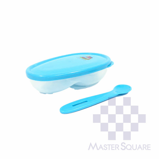 Barney Bowl With Spoon Bfb925 Bpa Free Blue-Master Square