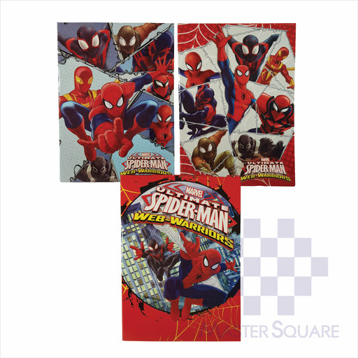 Notebook Composition 80lvs Spiderman Design Set 1 Pack Of 3-Master Square