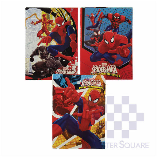 Notebook Composition 80lvs Spiderman Design Set 2 Pack Of 3-Master Square