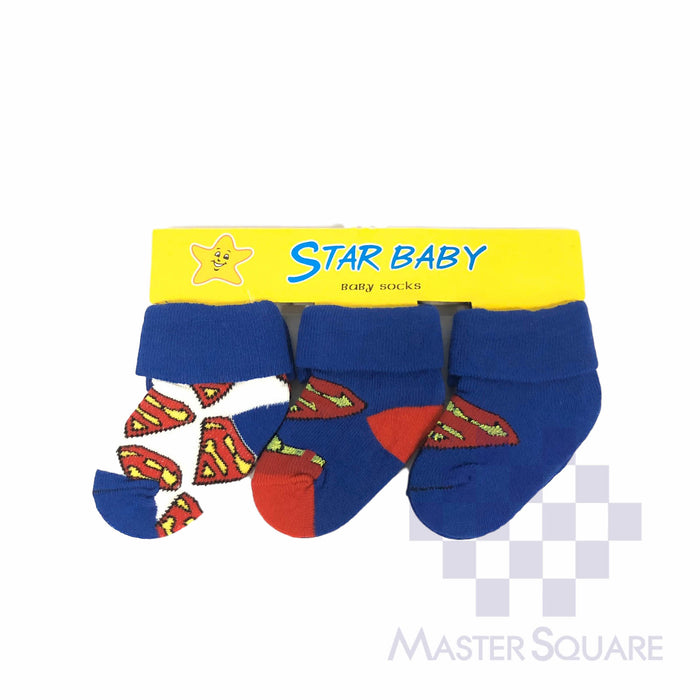 Star Baby Socks 3 In 1 Superman-Master Square