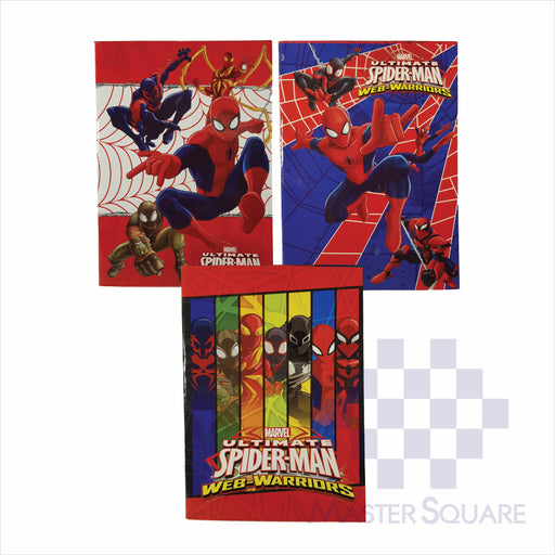 Notebook Composition 80lvs Spiderman Design Set 3 Pack Of 3-Master Square