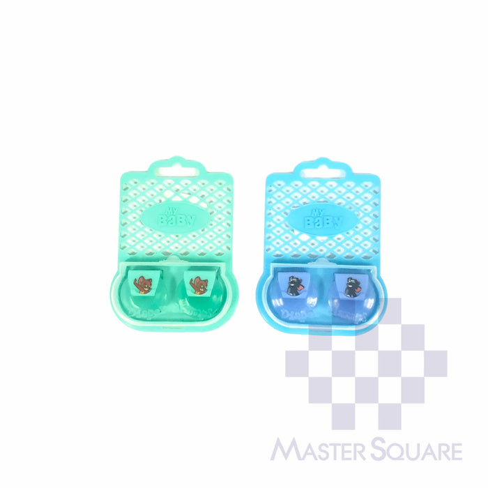 My Baby Cloth Diaper Clips Set Of 2 Blue & Green-Master Square