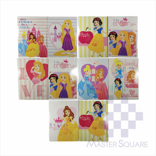 Notebook Composition 80lvs Hearts Of Princess Design Pack Of 10-Master Square