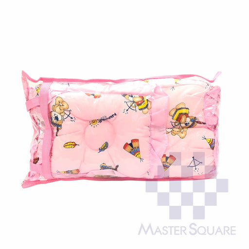 Bolster Set Of 3 Pink 2x Bolster Pillows, Head Shaping Pillow-Master Square