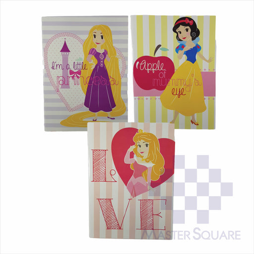 Notebook Composition 80lvs Hearts Of Princess Design Set 1 Pack Of 3-Master Square