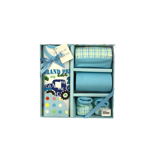 Baby Gift Set Babies G 4 Pc Set Includes Tank Top, Diaper Cover, Hat, Booties For 0-3 Months Made In Bangkok Bg411 Blue-Master Square