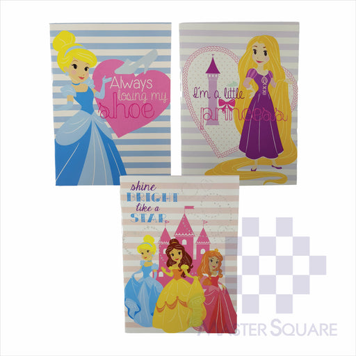 Notebook Composition 80lvs Hearts Of Princess Design Set 2 Pack Of 3-Master Square