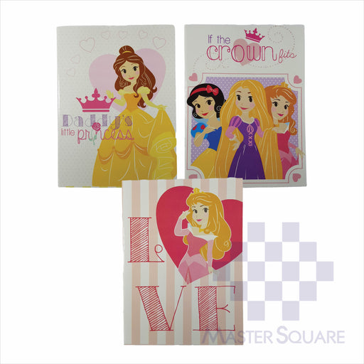 Notebook Composition 80lvs Hearts Of Princess Design Set 3 Pack Of 3-Master Square