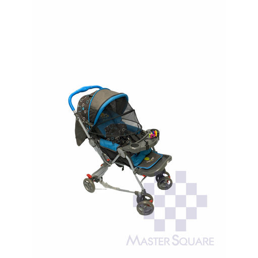 Baby Stroller 036cr Blue With Tray-Master Square