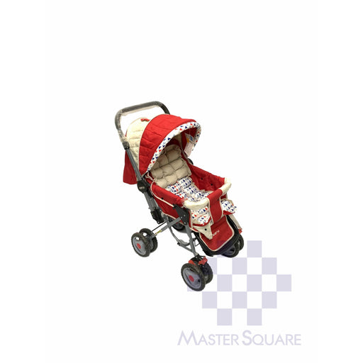 Baby Stroller 036cr Red With Triangles-Master Square