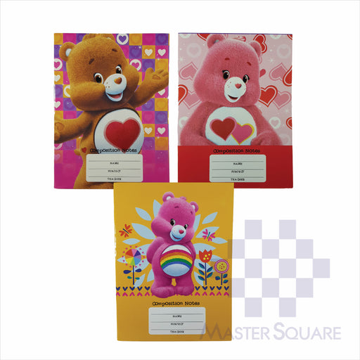 Notebook Composition 80lvs Care Bears Design Set 1 Pack Of 3-Master Square