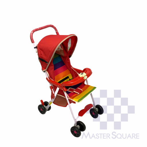 Stroller 711 Red With Rainbow-Master Square