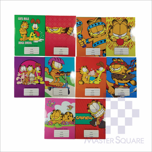 Notebook Composition 80lvs Garfield Design Pack Of 10-Master Square