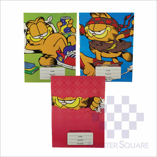 Notebook Composition 80lvs Garfield Design Set 1 Pack Of 3-Master Square