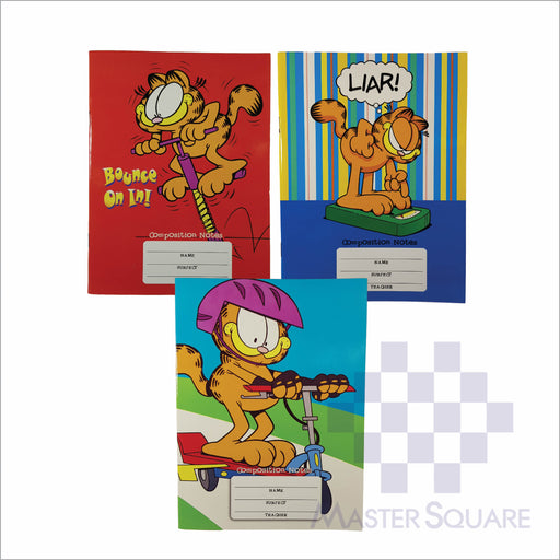 Notebook Composition 80lvs Garfield Design Set 2 Pack Of 3-Master Square