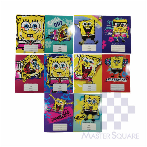 Notebook Composition 80lvs Spongebob Design Pack Of 10-Master Square