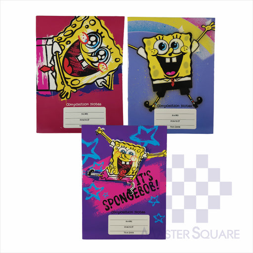 Notebook Composition 80lvs Spongebob Design Set 1 Pack Of 3-Master Square