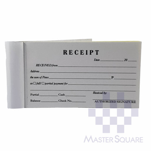 Blank Receipt Approx. 118x70mm-Master Square