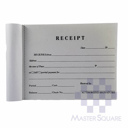 Articles Receipt Approx. 120x98mm-Master Square